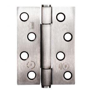 7730 Concealed Bearing Hinge - Square Corner - Staggered Hole - Mild Steel - Satin Nickel  102 x 76 x 3mm