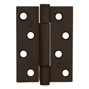 7730 Concealed Bearing Hinge - Square Corner - Staggered Hole - Mild Steel - Simulated Dark Bronze  102 x 76 x 3mm