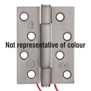 7730 Concealed Bearing 2 Wire Conductor Hinge - Anti-Clockwise Closing - Stainless Steel - Satin Polished   102 x 76 x 3mm