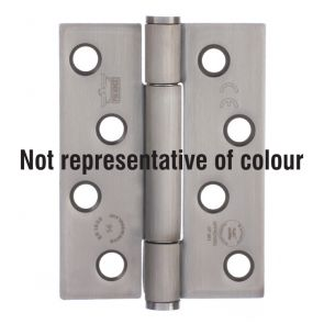 7730 Concealed Bearing Hinge - Square Corner - Staggered Hole - Mild Steel - Bright Nickel  102 x 76 x 3mm