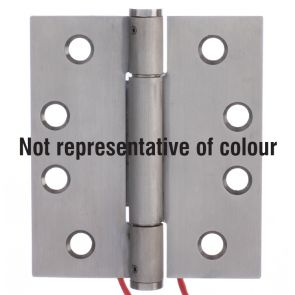 7735 Concealed Bearing 4 Wire Conductor Hinge - Anti-Clockwise Closing - Stainless Steel - Satin Polished  102 x 89 x 3mm