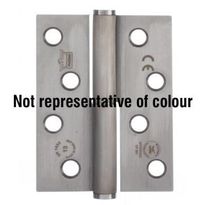 7755 Concealed Bearing Lift Off Hinge - Radius Corner - Clockwise Close -  Stainless Steel - Bright Polished  102 x 76 x 3mm