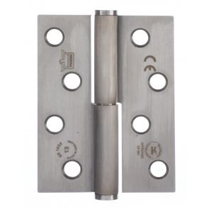 7755 Concealed Bearing Lift Off Hinge - Square Corner - Clockwise Close - Stainless Steel - Satin Polished  102 x 76 x 3mm
