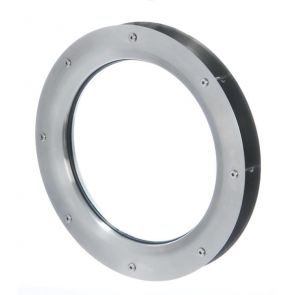 9303 Circular Vision Panel - Stainless Steel - Satin Polished - FD30 - 420mm Outer Diameter - 44mm door thickness
