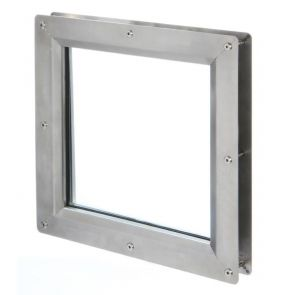 9351 Square Vision Panel - Stainless Steel - Satin Polished - FD60 - 100mm x 100mm