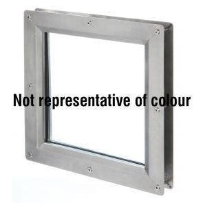 9353 Square Vision Panel - Stainless Steel - Bright Polished - FD30 - 300mm x 300mm