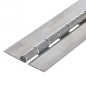 1010 Heavy Duty Continuous Hinge - Stainless Steel - Self Colour - No Holes  1829 x 76 x 2.5 x 7mm Pin