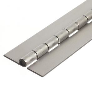 1208 Heavy Duty Continuous Hinge - Stainless Steel - Self Colour - No Holes  1829 x 76 x 3 x 8mm Pin