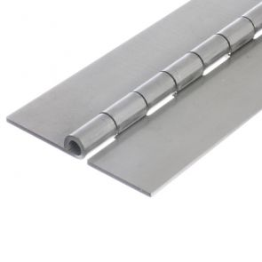 1212 Heavy Duty Continuous Hinge - Mild Steel - Self Colour - In-line Holes  1829 x 102 x 3 x 8mm Pin