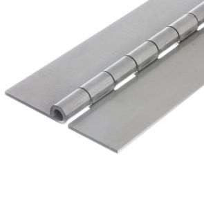 1212 Heavy Duty Continuous Hinge - Stainless Steel - Self Colour - No Holes  1829 x 102 x 3 x 8mm Pin