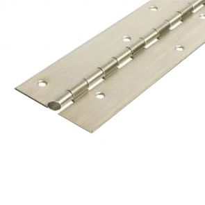 56015AL Architectural Continuous Hinge - Reduced Ligature - Stainless Steel - Satin Polished - Staggered Holes  2134 x 102 x 2.5 x 7mm Pin