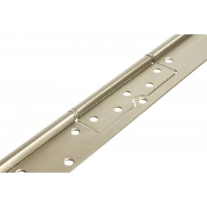 56135 Interleaf Continuous Hinge - Stainless Steel - Satin Polished - Staggered Holes   2134 x 90.5 x 2.5 x 7mm Pin