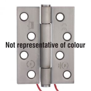 7730 Concealed Bearing 4 Wire Conductor Hinge - Clockwise Closing - Stainless Steel - Satin Polished   102 x 76 x 3mm