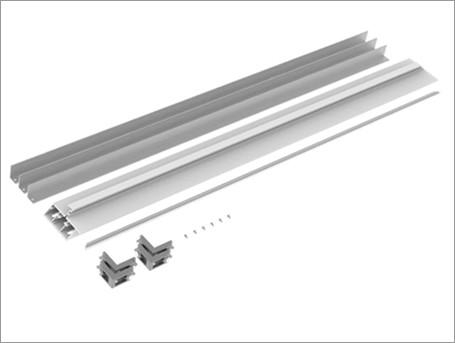 Concealed flush door upper rail