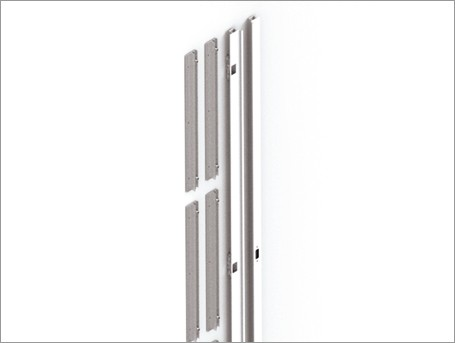 Concealed flush door upright set